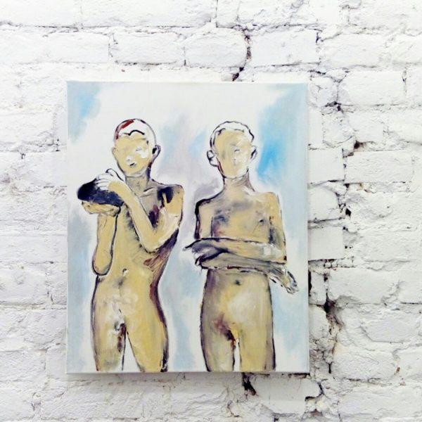 (Русский) Онлайн аукцион на картину Андрея Гангана