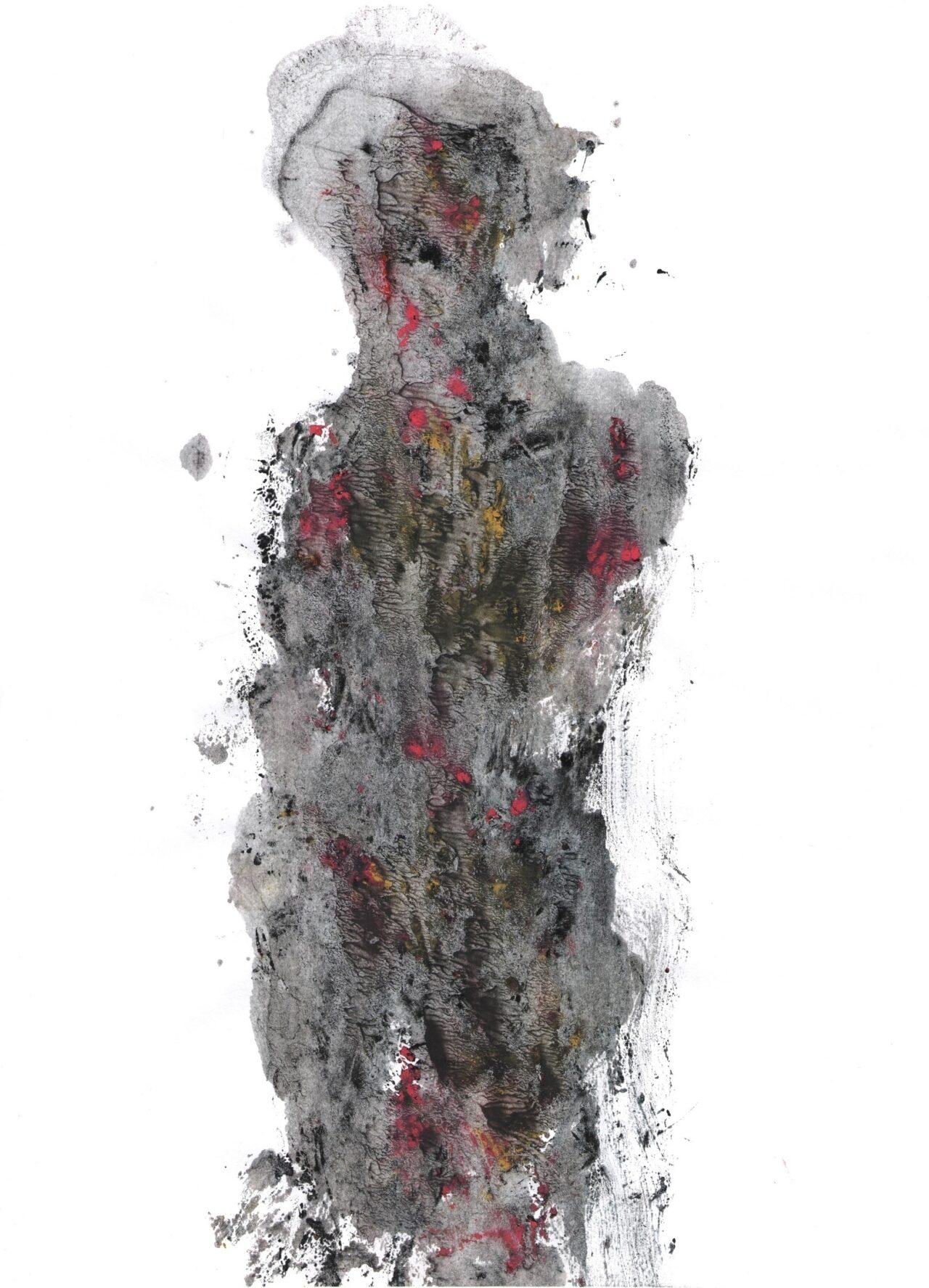 Андрей Ганган. Без названия. 2015. Бумага, монотипия. 21 × 30 см.