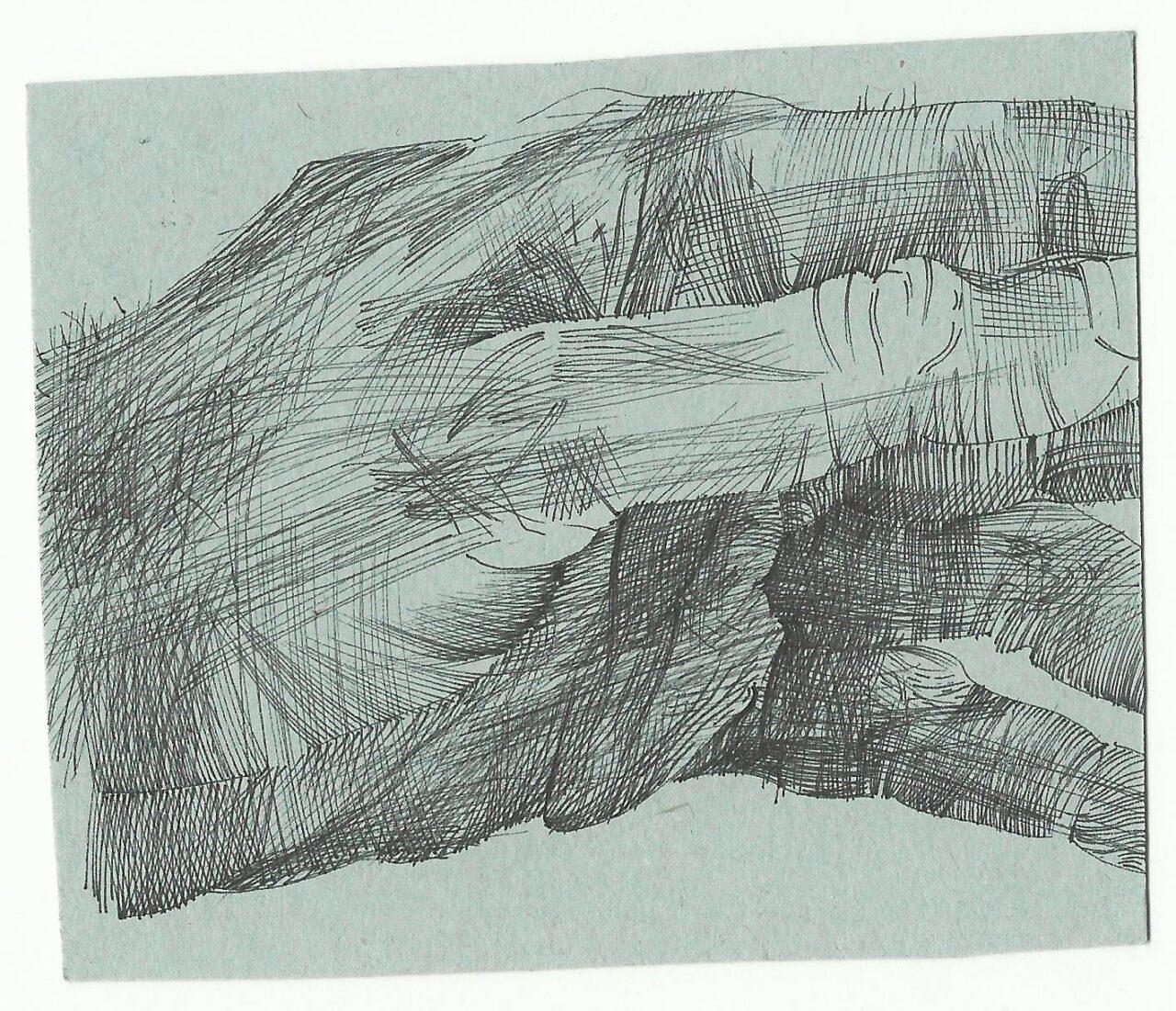 Андрей Петров. Серия «Руки художника». 2016. Бумага, тушь.