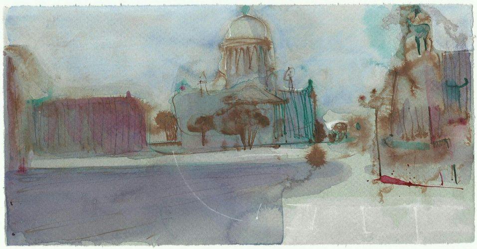 Андрей Петров. Исаакиевская площадь. 2018.