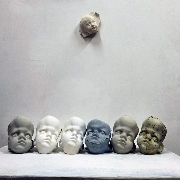 Юлия Белова. Голова. Терракота. 2016.